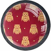 EZIOLY Möbelknöpfe, Eulenmotiv, dekorative