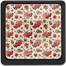 EZIOLY Möbelknöpfe, quadratisch, Herbst-Ahorn,