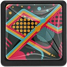EZIOLY Muster abstrakte quadratische Küchengriffe