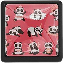 EZIOLY Panda Happy Day Quadratische