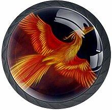 EZIOLY Phoenix Möbelknöpfe, dekorative Knöpfe,