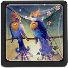 EZIOLY Schöne Love Birds Quadratische