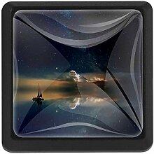 EZIOLY See-Spiegel, Sterne, Boot, Milchstraße,