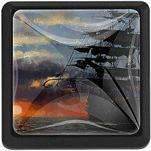 EZIOLY Segelboot Artwork Quadratische Küche