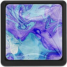 EZIOLY Wasserfarben lila und blau Quadratische