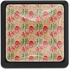 EZIOLY Weihnachtlicher quadratischer Küchenknauf