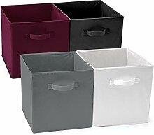 EZOWare Aufbewahrungsbox, 4er-Set Faltbare