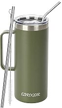 Ezprogear Edelstahl-Bierbecher, 900 ml, olivgrün,