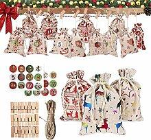 EZSMART 24Pcs Weihnachten Adventskalender zum