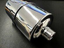 F-1000 SILBER - 4-Stufiger Duschfilter KDF Wasserfilter Dusche gegen Schmutz Chlor NEU! Filterwechsel MÖGLICH! Kein 1-Mal-Filter!!!