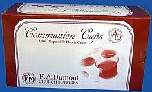 F.A. Dumont Communion Cups Einwegbecher für Kommunion, 1.000Stück
