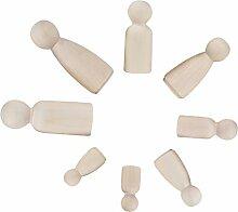 F Fityle 12er Set DIY Holzfiguren Figuren-Kegel