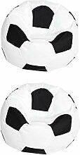 F Fityle 2er Fußball Gedruckt Sofa Sitzsackbezg