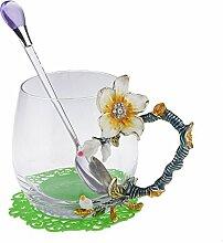 F Fityle Emaille Glas Becher Teeglas Kaffeeglas Se