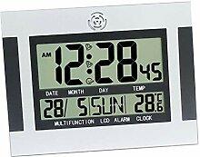 F Fityle Große Quadratische Wanduhr Digital Uhr