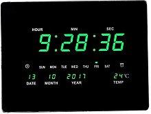 F Fityle LED Quadratische Wanduhr Digital Uhr mit