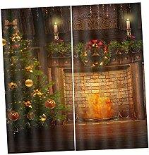 F Fityle Weihnachten Vorhang Schal