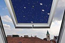 F?r Velux Fenster GGU / GGL / GPU / GPL / GHU / GHL / GTU / GTL / GXU / GXL C04 Dachfensterrollo, Verdunkelungsrollos in Sternenhimmel - 38,3x74cm (Breite x L?nge) - mit seitlichen F?hrungsschienen aus Aluminium