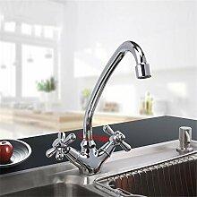 F4125 Küchenarmatur, modernes Design, Messing mit