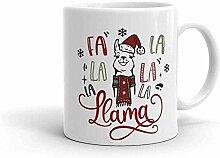 Fa La La La Lama Lustiger Weihnachtsbecher