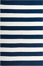 FAB HAB Hab - Nantucket - blau/weiß Teppich aus