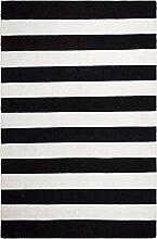 FAB HAB Hab - Nantucket - schwarz/weiß Teppich