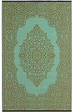 Fab Hab - Istanbul - Hellblau & Bronze - Teppich/