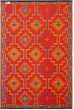 Fab Hab - Lhasa - Orange & Violett Teppich / Matte