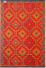 Fab Hab - Lhasa - Orange & Violett - Teppich/