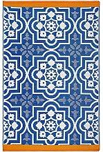 Fab Hab - Puebla - Blau - Teppich/ Matte für den
