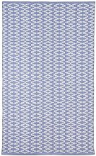 Fab Hab - Recycelter Baumwolle Teppich , Marga - Eventide & Weiß (90 x 150 cm)