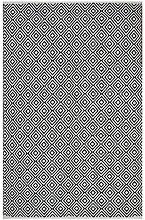 Fab Hab - Recycelter Baumwolle Teppich , Veria - Schwarz