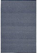 Fab Hab - Recycelter Baumwolle Teppich , Zen - Dunkelblau & Strahlend Weiß (120 x 180 cm)