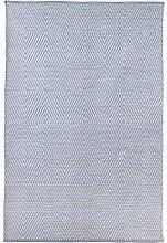 Fab Hab - Recycelter Baumwolle Teppich , Zen - Eventide & Hellweiß (60 x 90 cm)