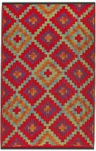 Fab Hab - Saman - Blau / Orange - Teppich/ Matte