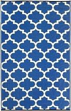 Fab Hab - Tangier - Regattablau & Weiß - Teppich/