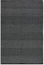 FAB Habitat Zen schwarz & Bright Weiß Flachgewebe recycelte Baumwolle Teppich, baumwolle, Black & Bright White, 2' x 3'