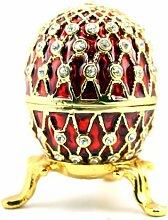 Fabergé-Ei Dose mit Kristallen