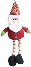 Fablcrew Christbaumschmuck 20cm rot niedlich Weihnachtsmann Puppe Anhänger, Fenster und Christbaumschmuck