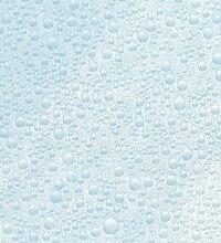 Fablon Klebefolie, 67,5cm x 2m Wasser Drop Fenster selbstklebend Rolle, Blau