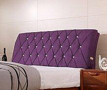Fabric Bedside weichen Paket Double Bedside Kissen Rücken Kissen weichen Bett auf dem Bett ( Farbe : 7# , größe : 12*60*120cm )