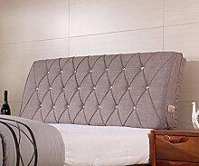 Fabric Bedside weichen Paket Double Bedside Kissen Rücken Kissen weichen Bett auf dem Bett ( Farbe : 3# , größe : 12*60*150cm )