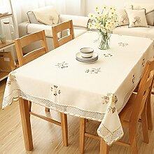 Fabric Floral European-stil Kleine Frische Tapete,Tischdecke Tv-schrank Deckel Tuch,Tischdecke Tisch Wohnzimmer Couchtisch Tuch-A 60x60cm(24x24inch)
