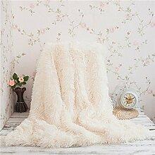 fabricmcc Kunstfell Überwurf Decke für Couch