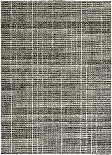 Fabula Living Tanne Teppich 140x200 Weiß/Schwarz