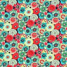Fabulous Fabrics Cretonne Blumen Baya —