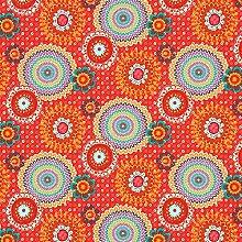Fabulous Fabrics Cretonne Blumenkreise Tijuana –