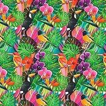 Fabulous Fabrics Cretonne Tropenwald Bletilla —