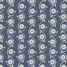 Fabulous Fabrics Marrakesch Blume 2 – Navy |