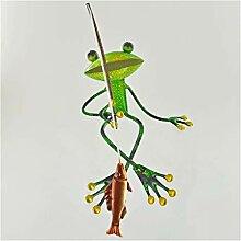 Fabulous grün Metall Garten Frosch Angeln Regal